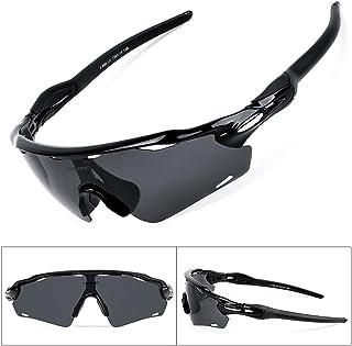 adb7f64087 Batfox Gafas De Sol Deportivas Polarizadas con Lentes Intercambiables,Tr90  Marco Irrompible para Pesca Ski