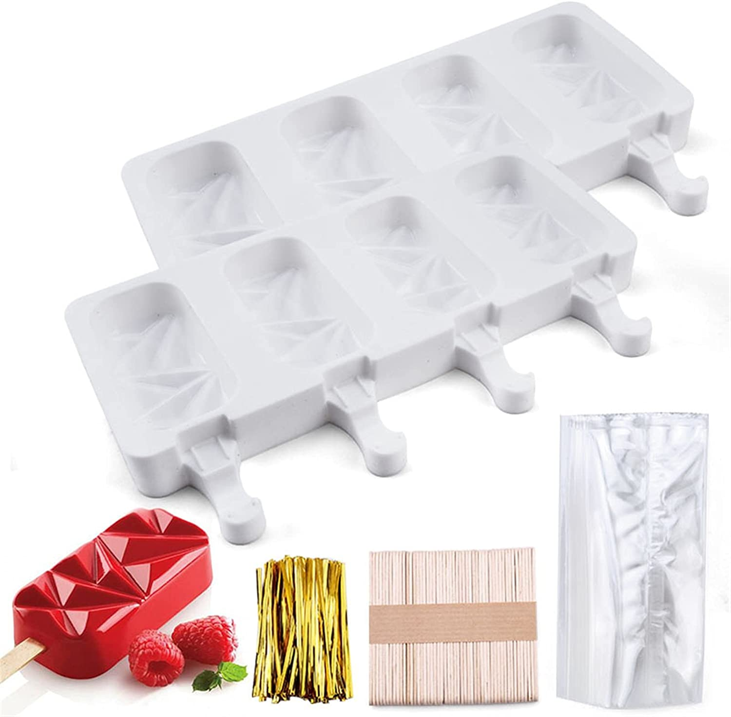 Durable Charlotte Ranking TOP7 Mall and precise Ice Cream Popsicle M Silicone Cakesicle Mold