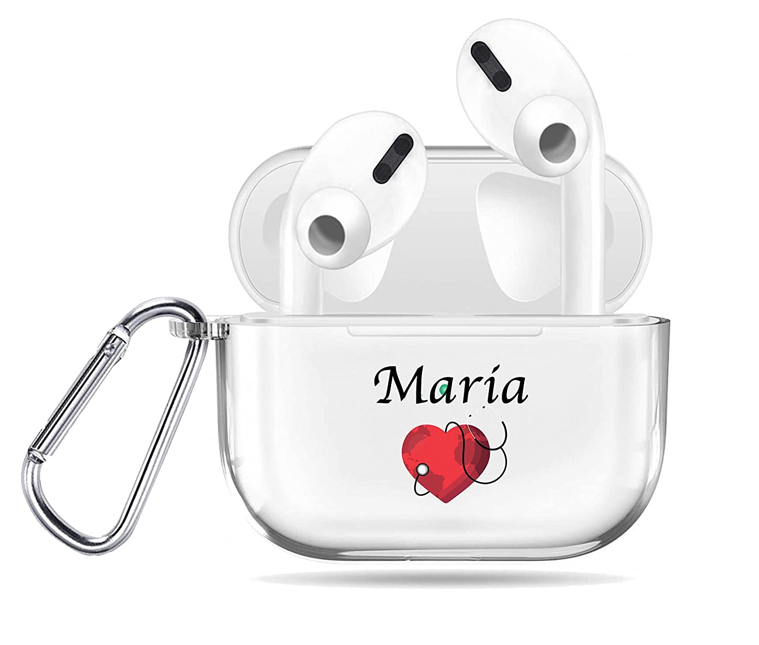 Doctor Airpods Pro Case Dedication Custom service Protect Heart Keychain Nurse Name