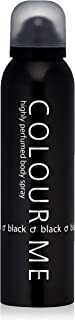 Colour Me | Black | Body Spray | Fragrance Spray For Men | Woody Aromatic Scent | 5.1 oz