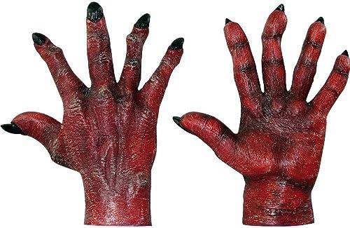 GHOULISH Teufel Rote Handschuhe für Erwachsene