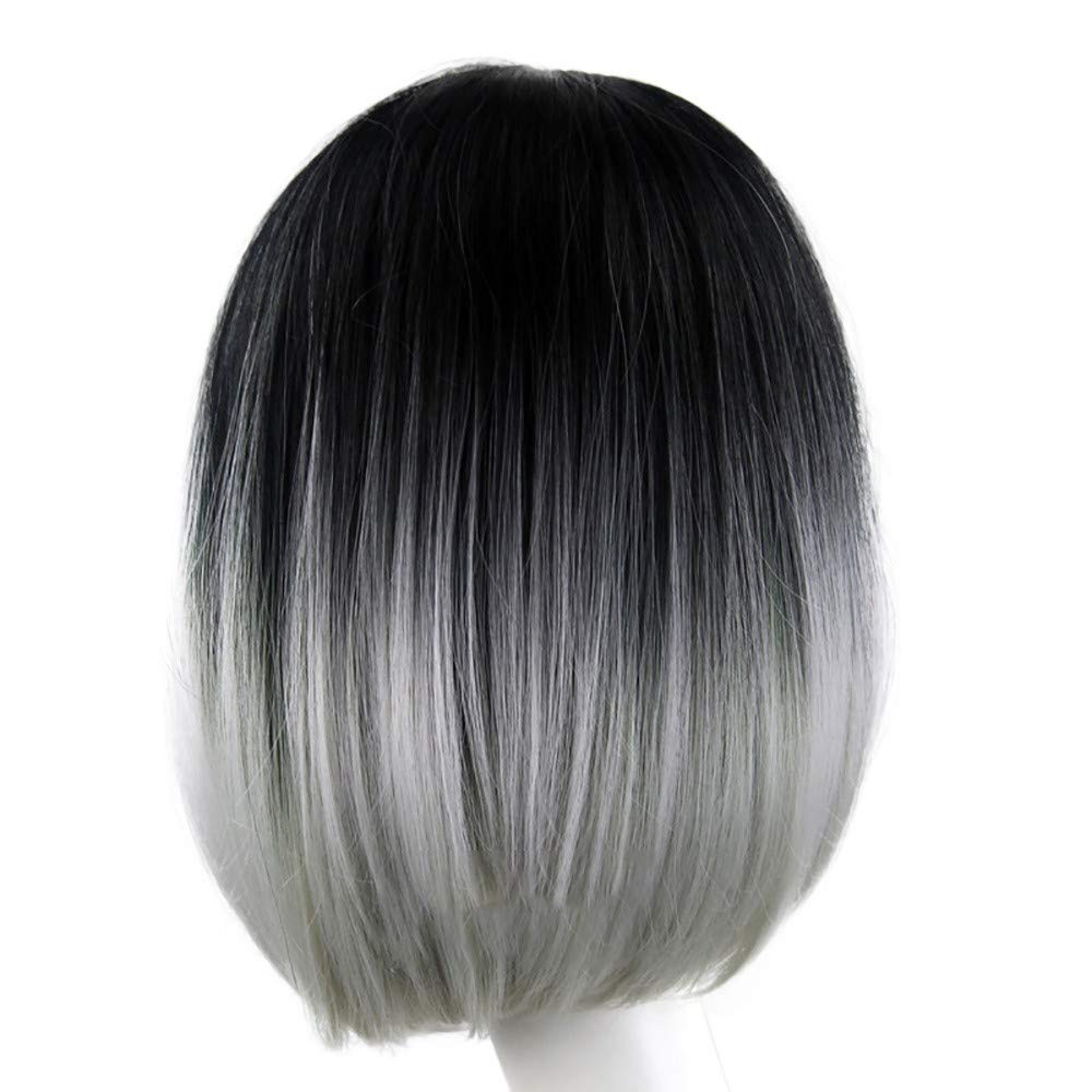 Clearance Straight Wigs Women Fashion Short Gradient Gray Synthetic Hair Natural Looking Full Wig Multicolor Buy Online In Gambia At Desertcart Productid 168294098