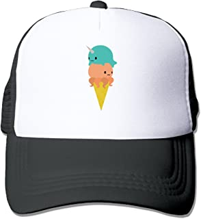 Trucker Narwhal Octopus Ice Cream Adjustable Mesh Back Baseball Cap
