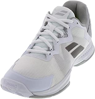 Babolat Women`s SFX 3 All Court Tennis Shoes White and Silver ()