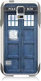 Unnito Galaxy S5 Case – Hybrid Commuter Case | Slim Cover with Hard Shell Design and Soft Inner Layer Compatible with Galaxy S5 White Case - Tardis Dr Who)