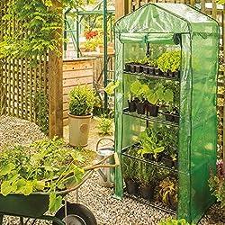 Gardman garden compact greenhouse with shelves & reinforced cover, STANDARD