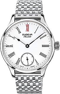 Dugena - EPSILON 3 - Reloj automático para hombre con esfera analógica negra y correa de piel negra