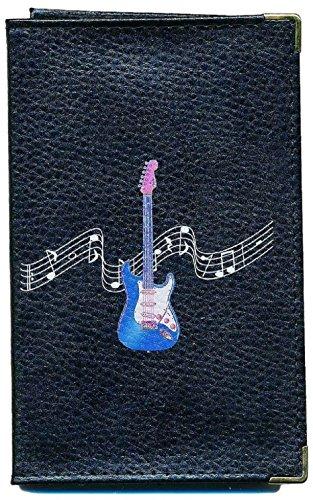 Syl'la Schutz Tasche Leder Schutzhülle für Kfz-Papiere-FÜHRERSCHEIN Schwarze Gitarre