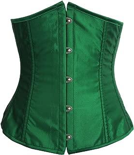 green half corset