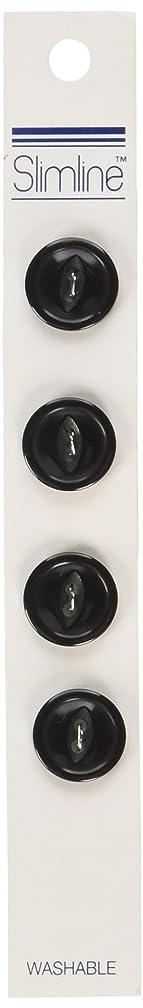 Slimline Buttons Series 1-Black 2-Hole 5/8