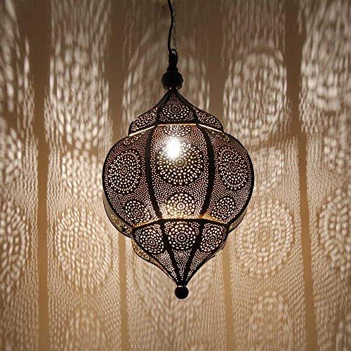 albena shop 71-5310 Abha lámpara oriental de techo ø 27 x 45 cm metal negro/oro interior