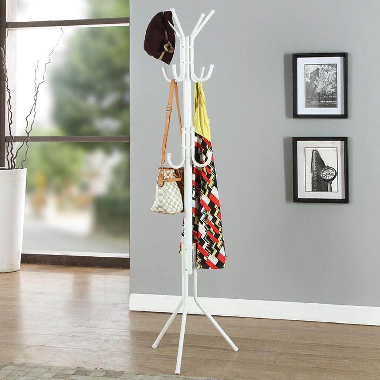 CIGONG-Coat rack Coat Rack Floor Fashion Wrought Iron Hanger Creative Hanger Bedroom Foyer Simple White Hanger 45x45x173cm