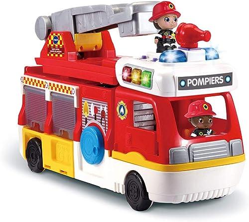 VTech - Tut Tut Copains - Super Camion Caserne de Pompiers, échelle, camion, hélicoptère – Version FR