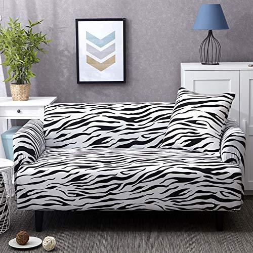 JKRTN Fundas de sofá Estampadas de poliéster elástico y Elastano Fundas para sofá y Muebles Leopardo 627 1 2 3 4 Seater