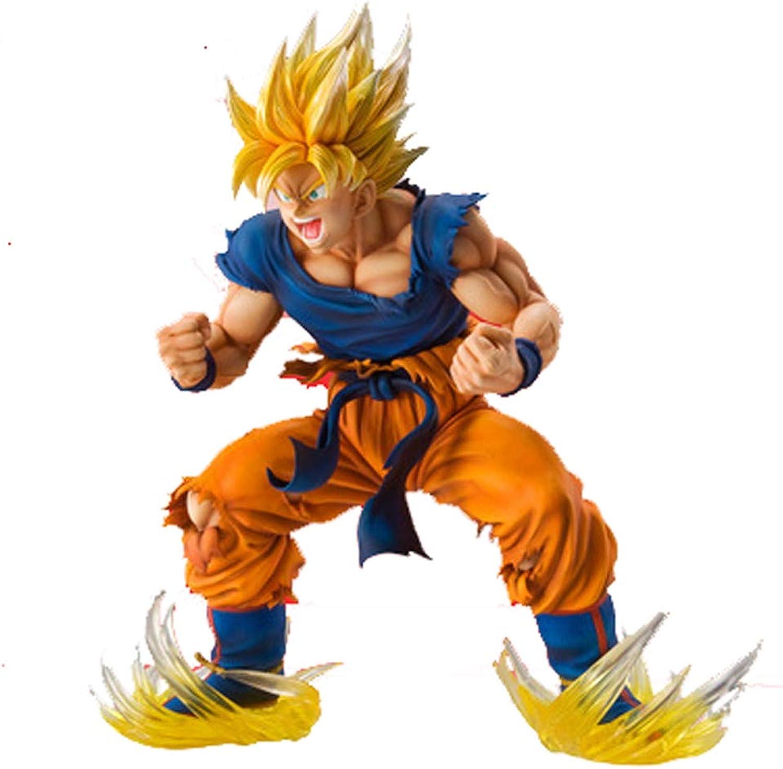 autentico en linea SONGDP SONGDP SONGDP Anime Juguete Modelo de Personaje de Anime Qilongzhu Cambio súper Saiyan 17.5 cm Adornos de Sun Wukong Adornos Modelo Escultura Escultura Ornamento Estatua cómica  comprar ahora
