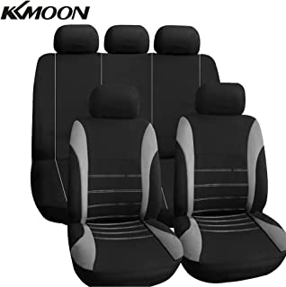XtremeAuto/® Universal Fit Front Pair of Car Seat Covers Grey//Black Complete with Laptop Sticker XA3363-28