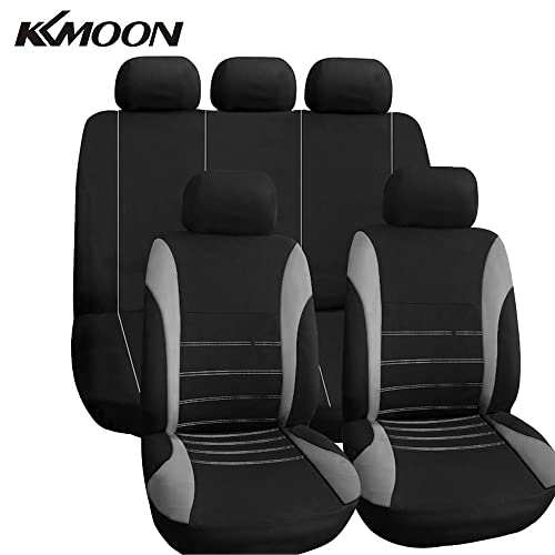 VAUXHALL CORSA SXI 06- LUXURY FULL SEAT COVER SET BLACK /& RED PIPING