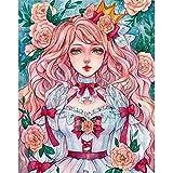 5D DIY Diamond Figure Beauty Cartoon Diamond Embroidery Set Diamond Mosaic Picture Dream Diamond Painting A4 30x40cm