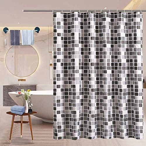 Sanbolgan Bath Curtains Vorhang,Shower Curtains,Duschvorhang Anti-Schimmel Stoff,Duschvorhang Wasserdicht,Anti-Bakteriell,Bad Vorhang für Badzimmer,Duschvorhäng aus Schöne Muster für Badezimmer,Haken
