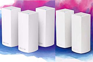 Linksys Velop Whole Home Intelligent Mesh WiFi System Tri-Band 5-pack total AC11000 Coverage up to 10,000 square feet