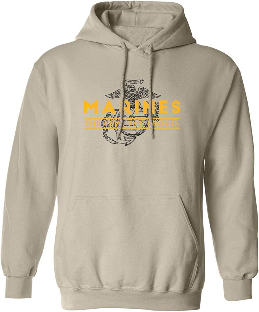 zerogravitee Marines The Few. The Proud. Adult Hooded Sweatshirt