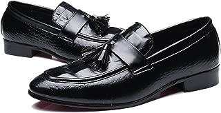 Men's Modern Slip-on Dress Shoes Modern Tassel Slip-on Leather Lined Driver Loafer Plus Size