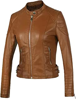 Sentao Women Zip Up Jackets Outwear Classic Vintage Jacket Outwear Overcoat