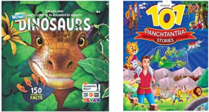 Dinosaurs - Wow Encyclopedia In Augmented Reality- Age 6++101 Panchatantra Stories (Set Of 2 Books)
