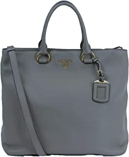 Women's Dark Gray Vitello Phenix Shopping Tote Top Handle Bag Shoulder Bag 1BG865