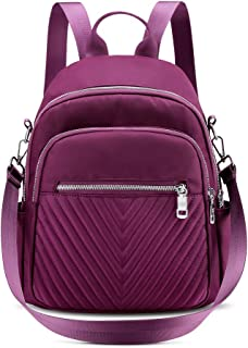 Nylon Backpack Purse for Women, Convertible Small Purse Backpack Waterproof