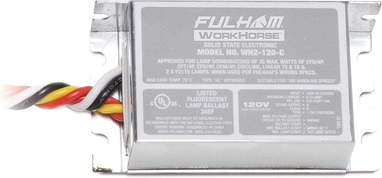 Fulham Overseas parallel import regular item Lighting WH2-120-C Max 87% OFF Workhorse Lamp Fluorescent Versatile 2