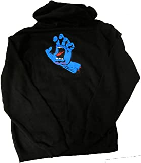 Mens Screaming Hand Hoody Zip Sweatshirt