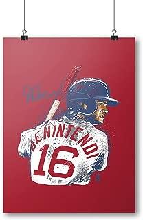 500 LEVEL Andrew Benintendi Boston Baseball Wall Poster - Andrew Benintendi Portrait