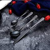 Alta calidad Oro conjunto cuchara de oro Cuchillos Cubiertos casar sistemas Vajilla Horquillas Cuchillos de cucharas de plata Viajes Cubiertos cubiertos juego (Color : 9)