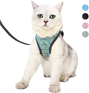 Yult Cat Harness and Leash Set Ultra-Light Escape Proof Kitten Collar Cat Walking Jacket with Running Cushioning Soft and Comfortable Suitable for Puppies Rabbits