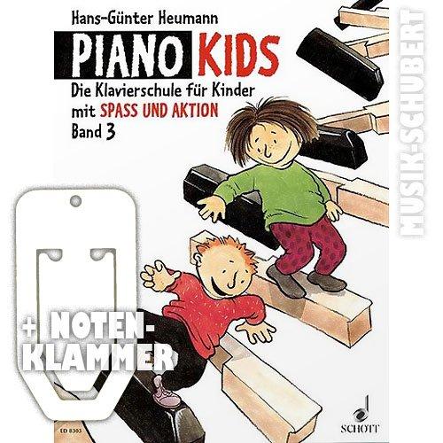 Piano Kids Band 3 inkl. praktischer Notenklammer - die Klavierschule für Kinder ab 6 Jahren mit SPASS UND AKTION (broschiert) von Hans-Günter Heumann (Noten/Sheetmusic)