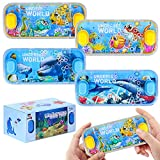 SevenQ Handheld Water Games, 4 Packs Ocean Theme Water Toss Ring Game Aqua Toy Water Ring Game for Kids and Adults
