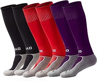 Kids Soccer Socks Knee High Tube Football Socks for Boys...
