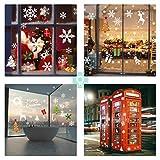 AmzKoi 160 Fensterbilder Selbstklebend, 6 Blätter Schneeflocken Fenstersticker Winter Deko Weihnachtsdeko, Fensterbilder Schneeflocken Wiederverwendbar - 8