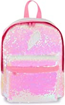 Toddler Backpack for Girls Glitter Preschool Backpack Sparkly Magic Mermaid Small Sequins Bookbags (Pink)