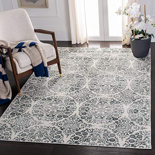 Safaviehsafavieh Isabella Collection Isa958h Area Rug 5 3 X 7 7 Charcoal Ivory Dailymail