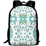 fsfsdafsaBags Fish and White Baby Seal Animal in Blue Water 3D Print Sac à Dos de Voyage College School Laptop Bag Daypack Travel Shoulder Bag for Unisex