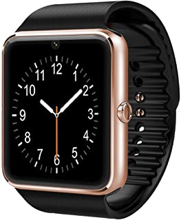 CNPGD Bluetooth Smart Watch(Partial Compatible for IPHONE)+(Full Compatible for Android phone) +Unlocked Watch Cell Phone+Fitness Tracker Camera Pedometer for Kids, Men and Women(Gold)