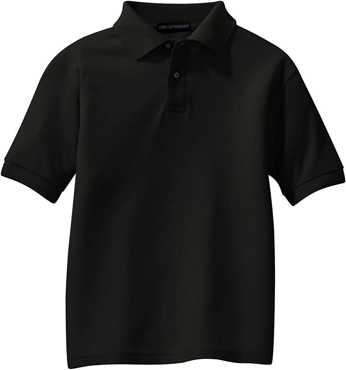 Port Authority Youth Silk Touch Polo (Black)