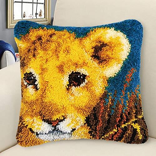 Bricolaje hecho a mano bordado alfombra animal pájaros tigre hilado inacabado almohada bordado alfombra material Garen om te Haken