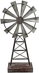 The Farm Windmill Decor Perfect for Farmhouse Decor Rustic Decor Country Home Decor Windmill Metal Table Decor 16