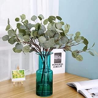 Artificial Silver Dollar Eucalyptus Wedding Ornament Decoración del hogar Artificial Tree Branches for Decoration, A