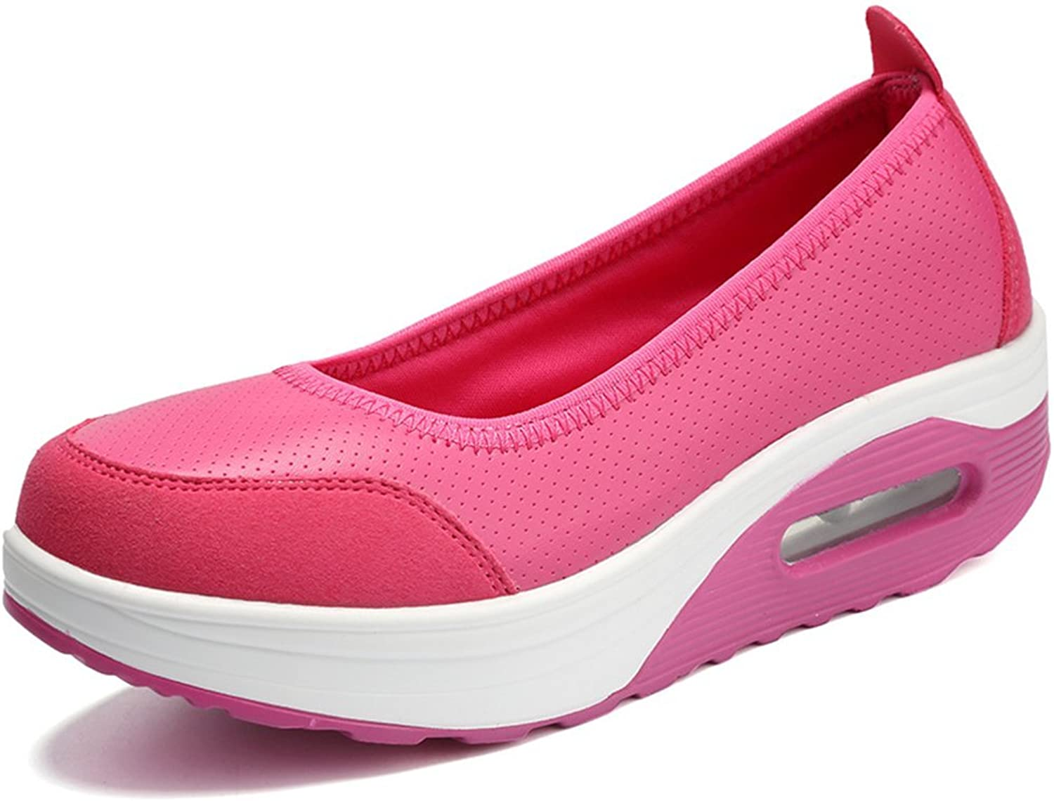 AGoGo Women's Athletic Casual Slip-on Toning Lightweight Sneaker Walking Casual shoes