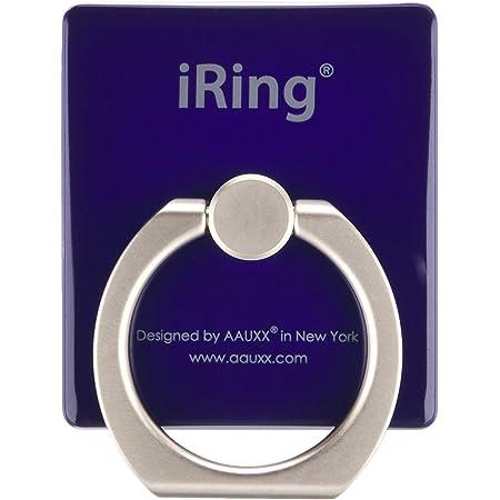 【正規輸入品】iRing Premium オークス スマホグリップ スタンド 吊り下げフック付き ネイビー スマホ タブレット用 落下防止 UMS-IR01HKNA