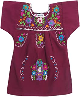 Baby Girls Mexican Dress Traditional Tehuacan Poplin